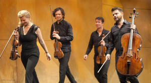 Pavel Haas Quartet concert exiting stage
