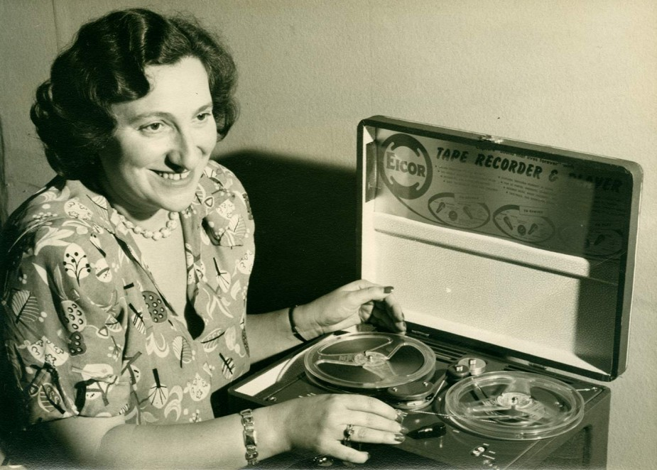 Founding President Ida Halpern with recorder, 1951