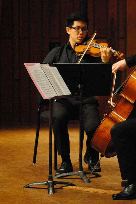 Donghyun Kim, violinist, violin, performance, chamber music, Friends of Chamber Music, Young Musicians Competition, 2015