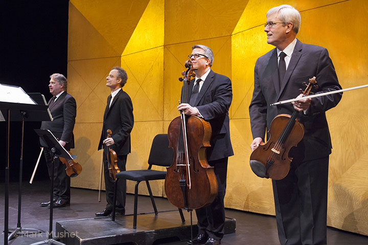 Emerson Quartet on stage