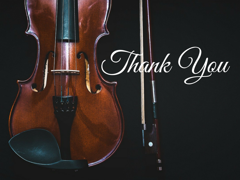Thank You For Your Donation - Friends of Chamber Music